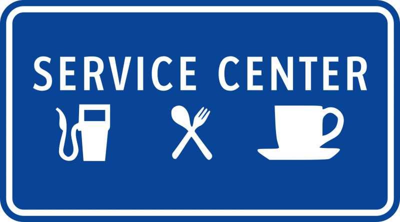 Service Center sign